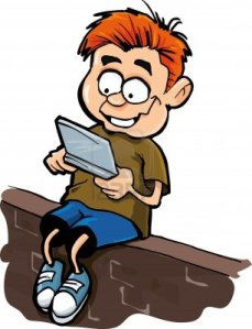 9701475-cartoon-of-boy-playing-a-hand-held-computer-gamer-isolated-on-white