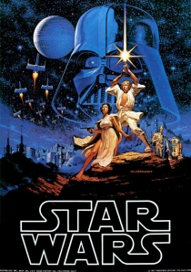 The original Star Wars: A New Hope movie poster